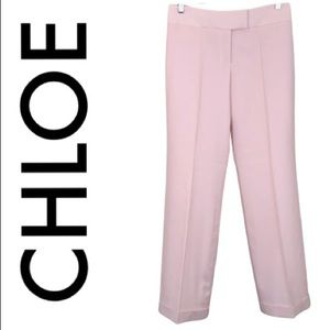 CHLOE PALE PINK FLARE PANTS SIZE 8
